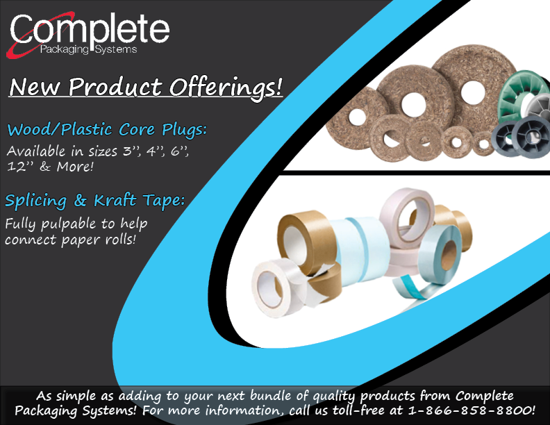 Now Offering Core Plugs Splicing Tape Amp Kraft Tape